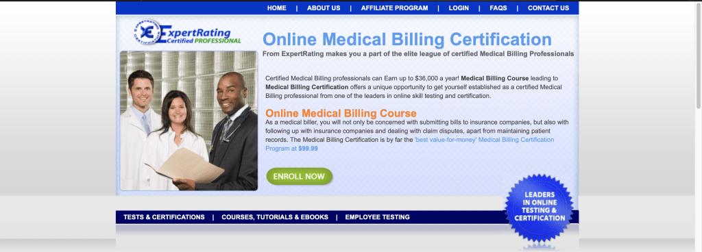 ExpertRating—Online Medical Billing Certification