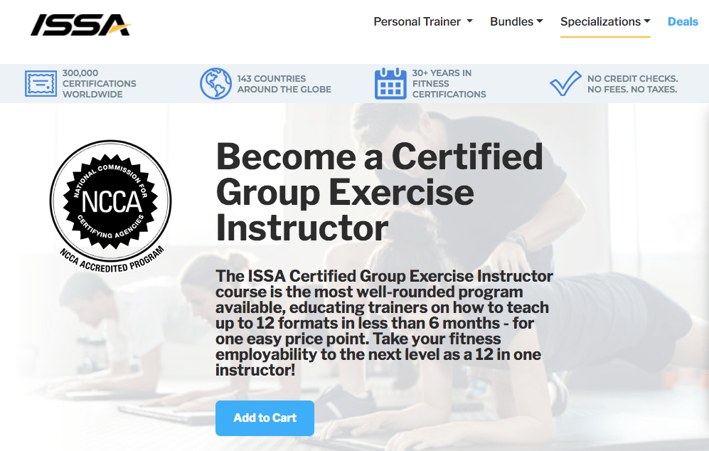 ISSA: Certified Group Exercise Instructor