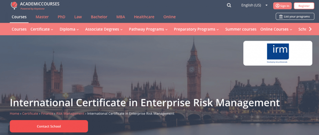 International Certificate in Enterprise Risk Management