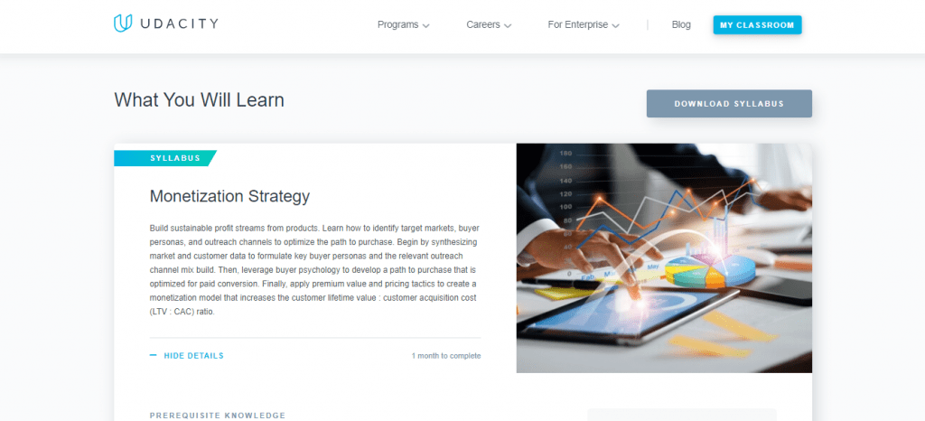 Udacity What You Will Learn
