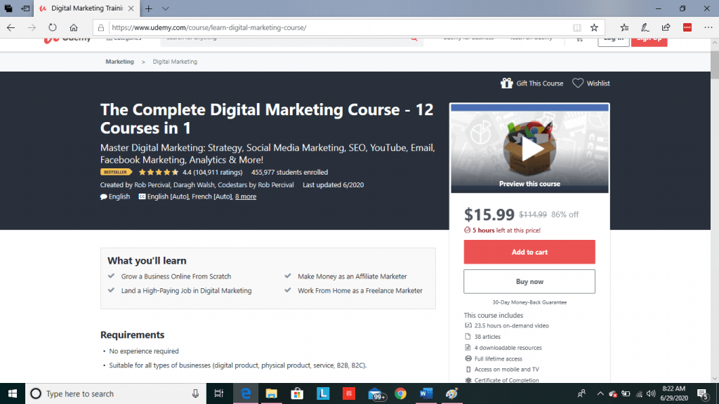 Udemy Course Preview