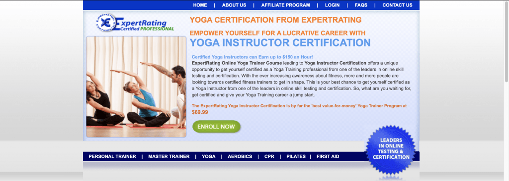 Yoga Certification by ExpertRating