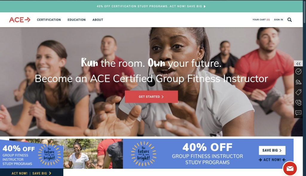 ACE: Group Fitness Certification