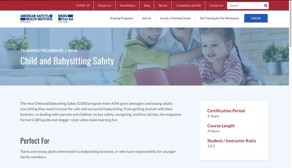 American Safety & Health Institute—Child and Babysitting Safety