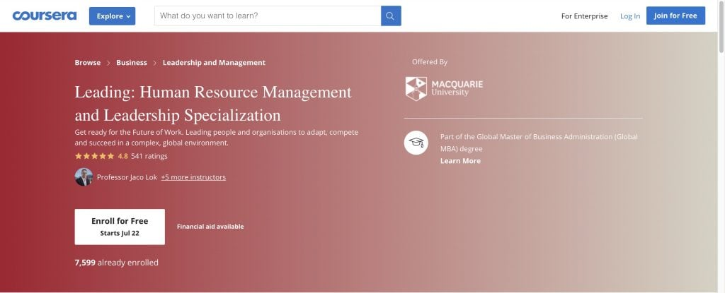 Coursera: Human Resource Certification by University of Minnesota