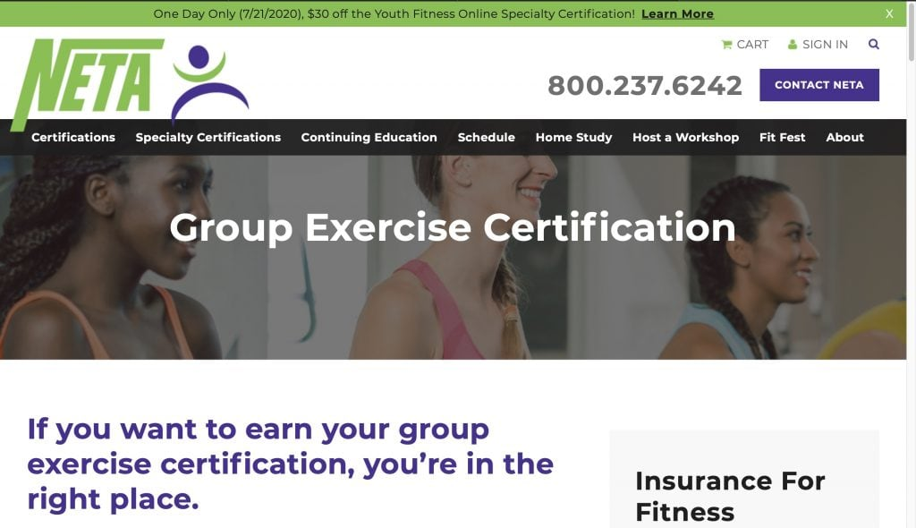 NETA: Group Exercise Certification