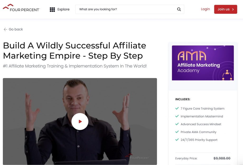 Affiliate Marketing Academy by FourPercent