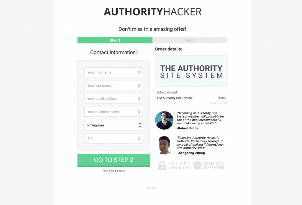 Authority Site System—Authority Hackers