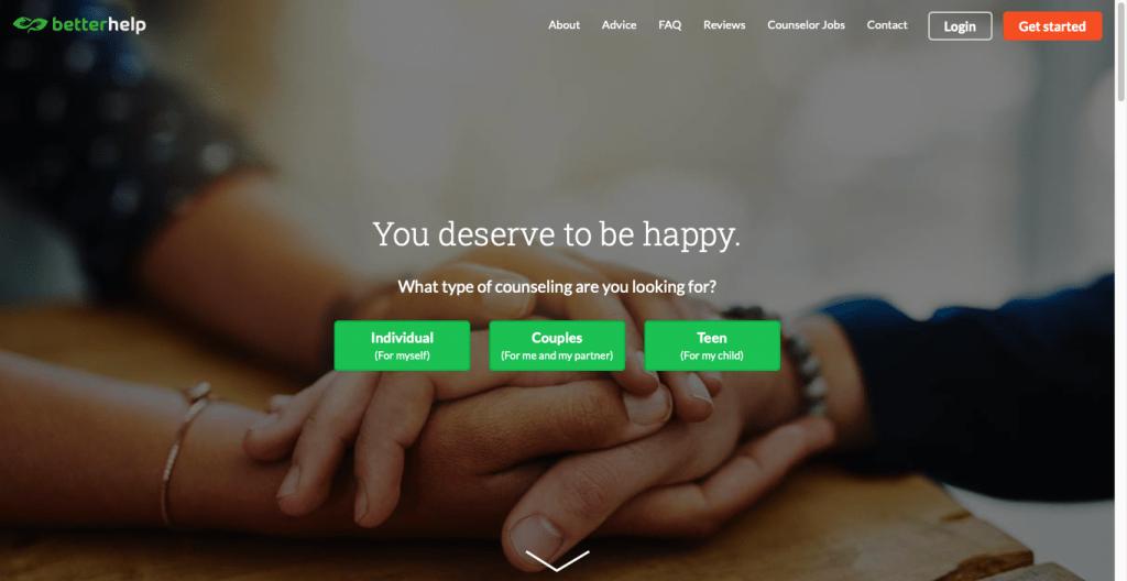 BetterHelp Website