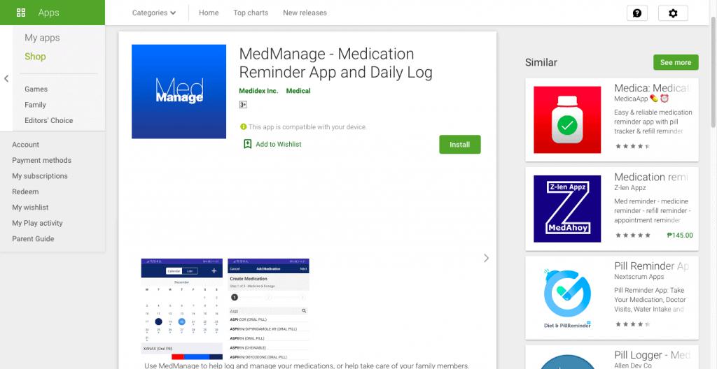 MedManage Website