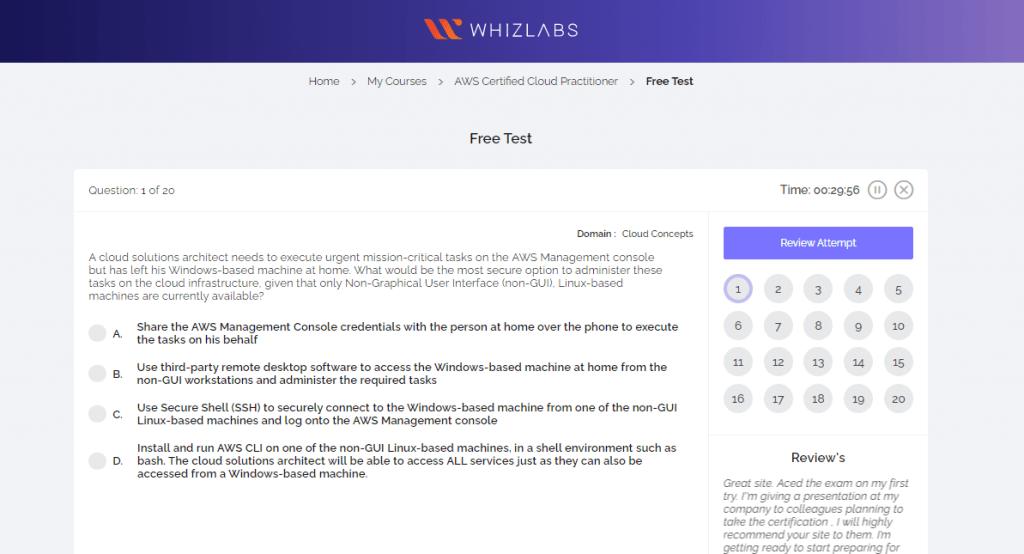 Whizlabs Test