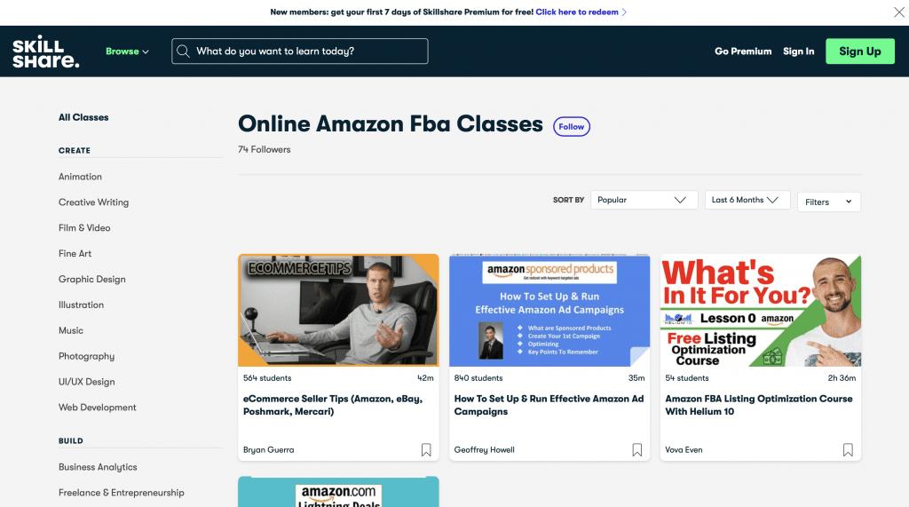 Amazon Seller Central by Skillshare