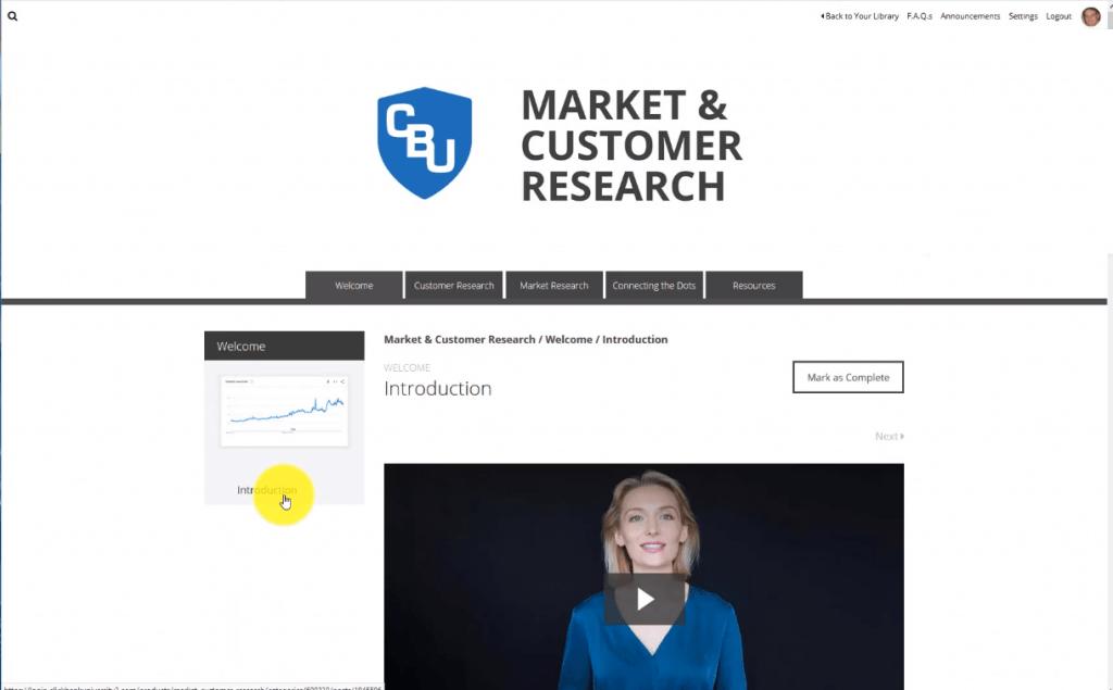 ClickBank University Market Research