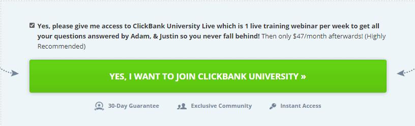 ClickBank University Pricing