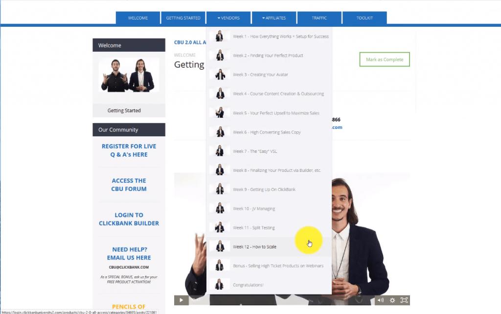 ClickBank University Vendor