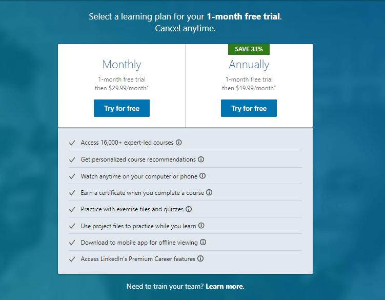LinkedIn Learning Price