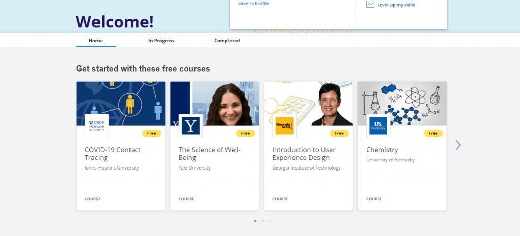 Coursera Dashboard