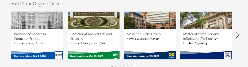 Coursera Degrees
