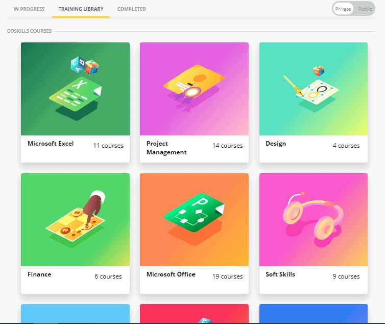 GoSkills Categories