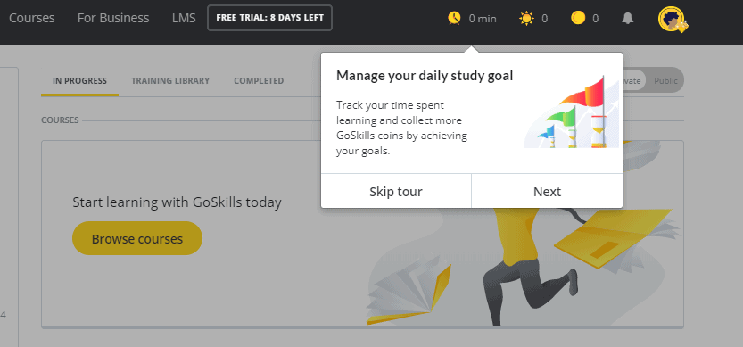 GoSkills Study Goals