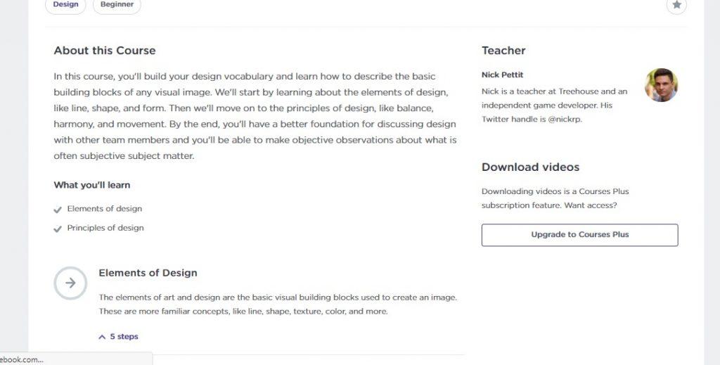 Treehouse Course Description