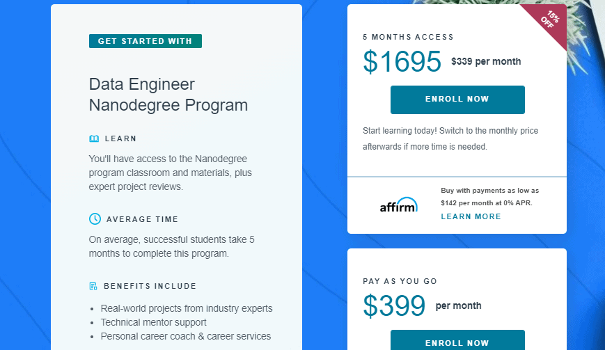 Udacity Prices