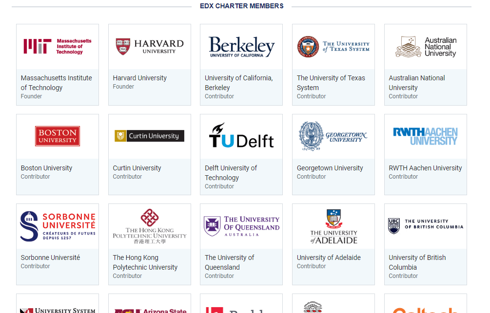 edX Colleges