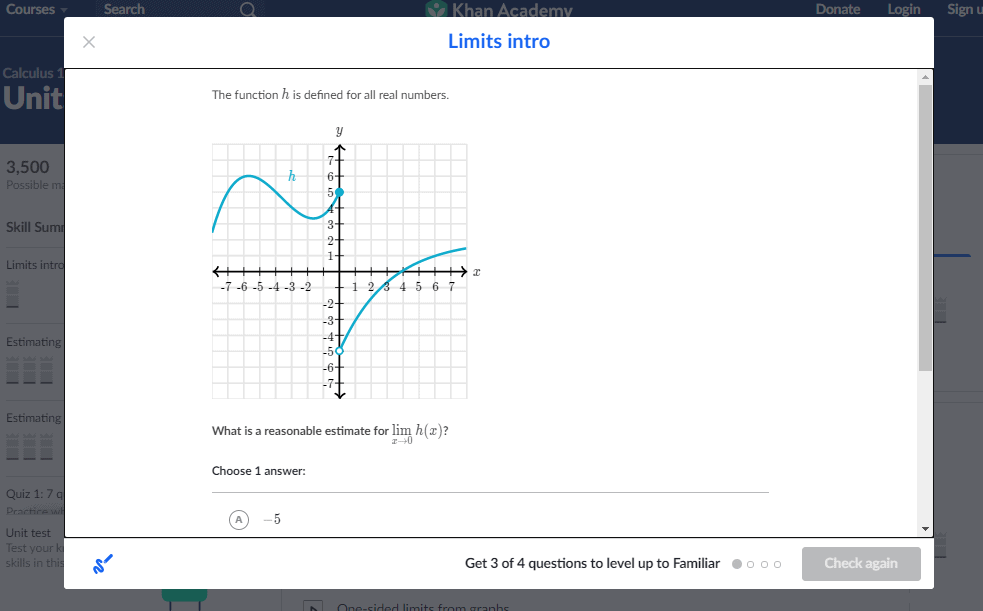 Khan Academy Quiz