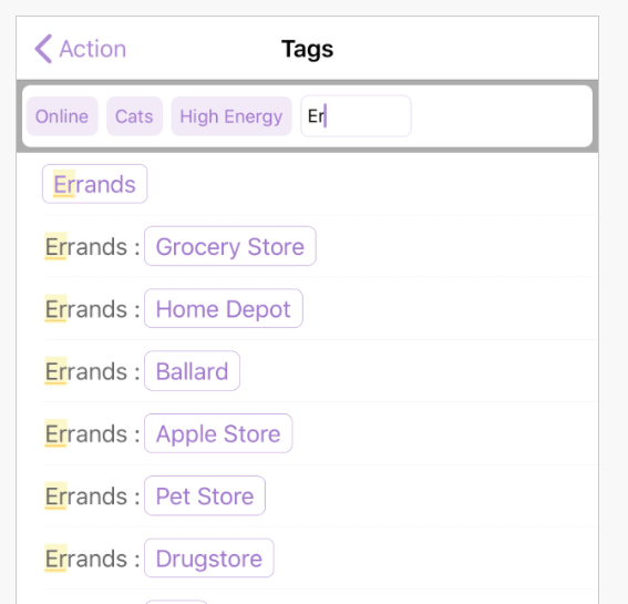 OmniFocus Tags