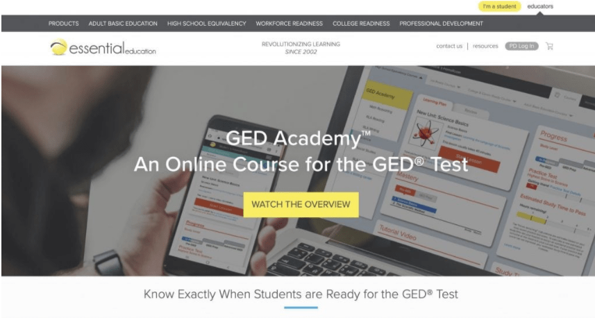 Essential Education's GED Academy