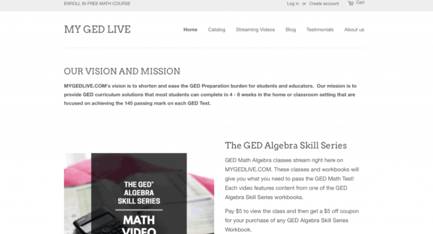 GED Live website