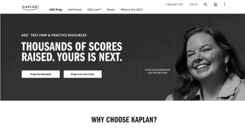 Kaplan Test Prep's GED Test Prep
