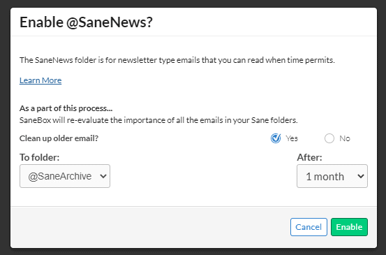 SaneBox News