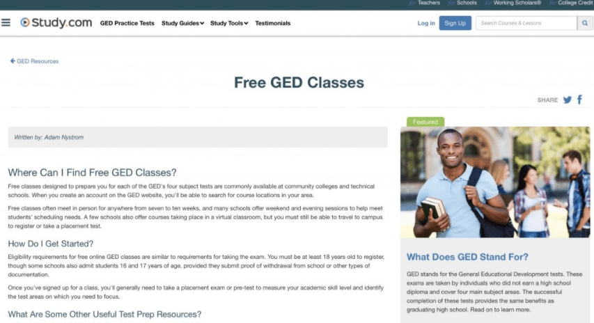 Study.com GED Classes