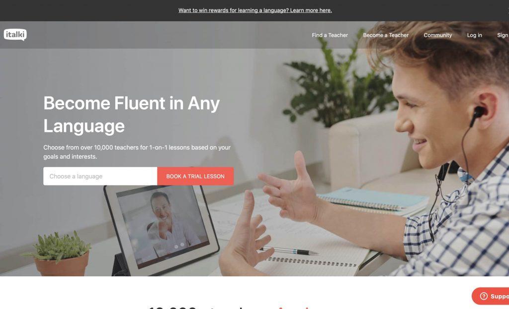 Italki website