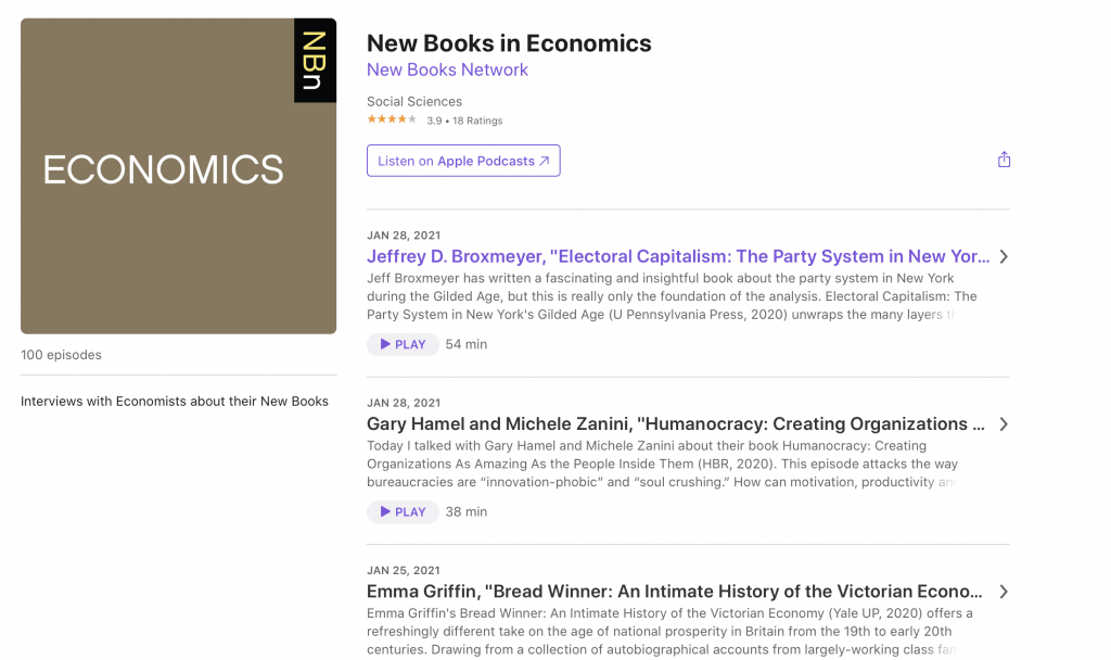 New Books in Economics