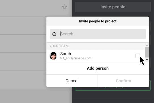 Nozbe Invite People