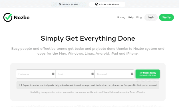 Nozbe Review – Can It Help Your Team Accomplish Goals?