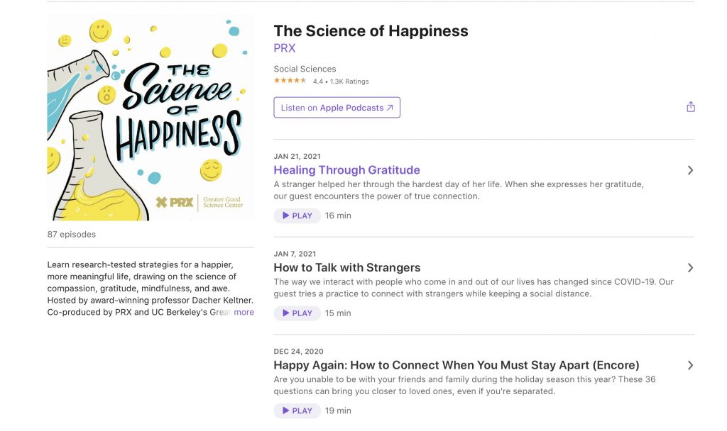 The science of happiness podcast