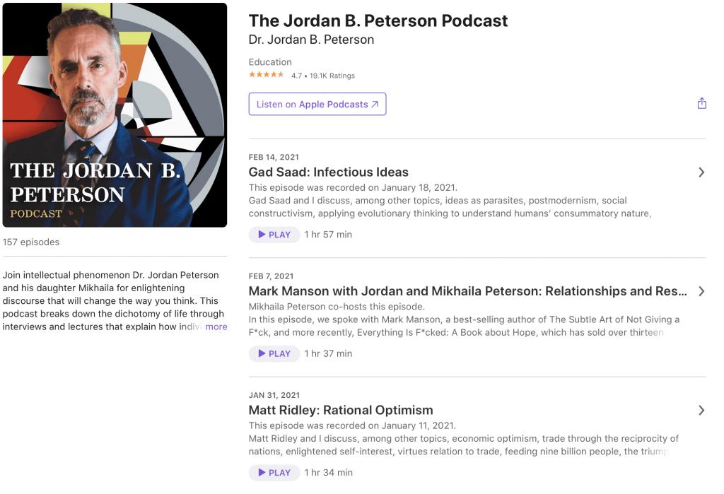 The Jordan B Peterson Podcast