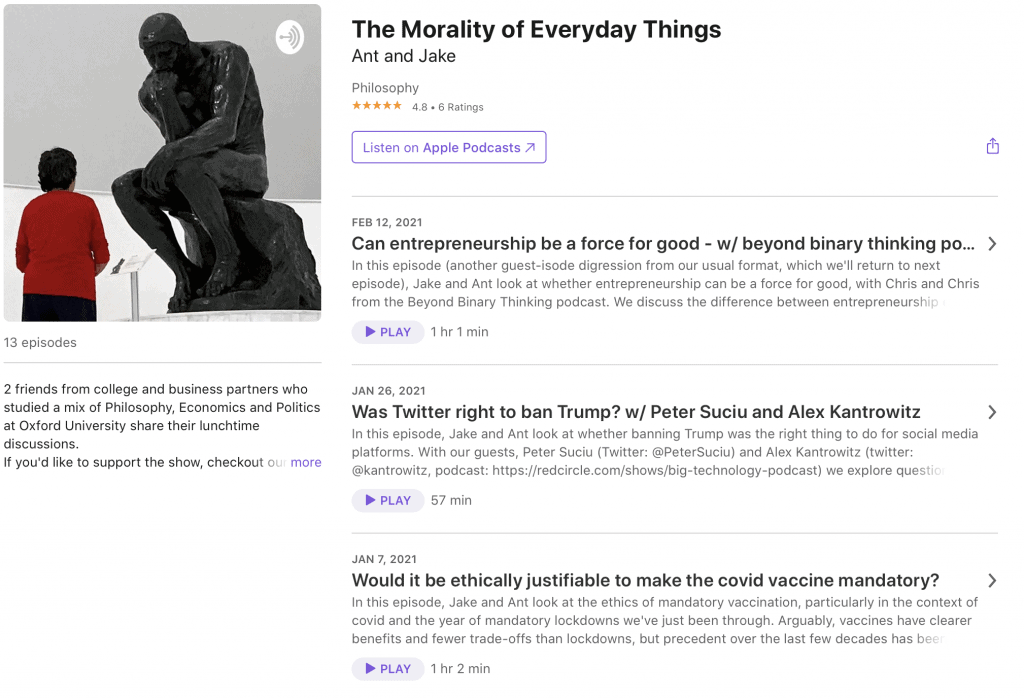 The Morality of Everyday Things