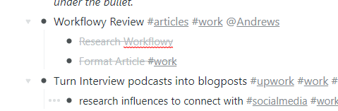 WorkFlowy Completed