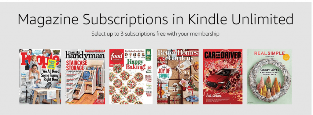 Kindle Unlimited Magazines