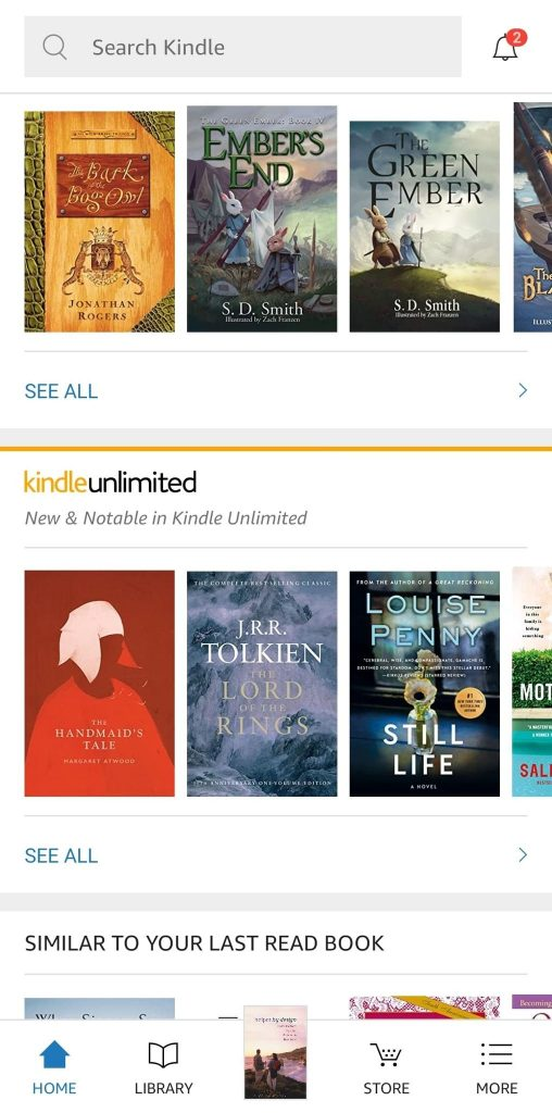 Kindle Unlimited Suggested