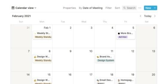 Notion Calendar View