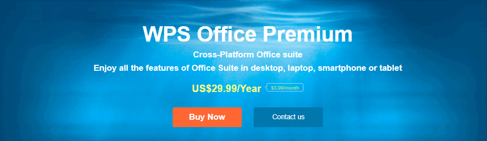 WPS Office Pricing