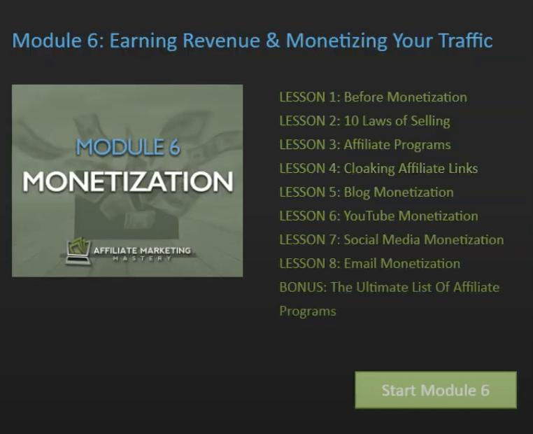 Affiliate Marketing Mastery Module 6