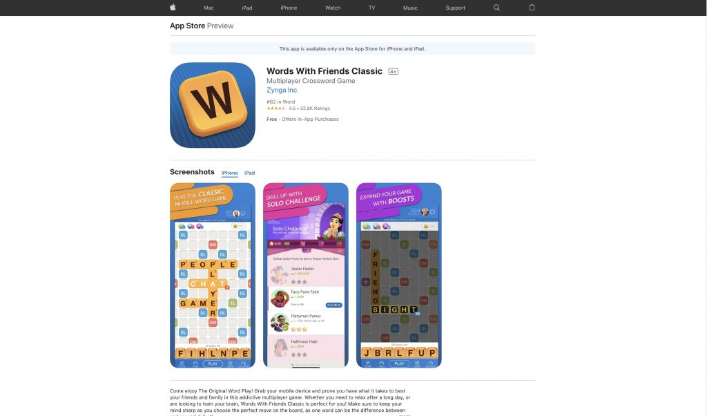 Best Vocabulary Game-Words-With-Friends