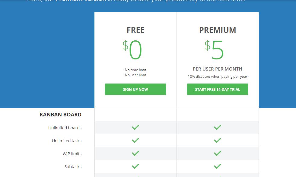 KanbanFlow Pricing